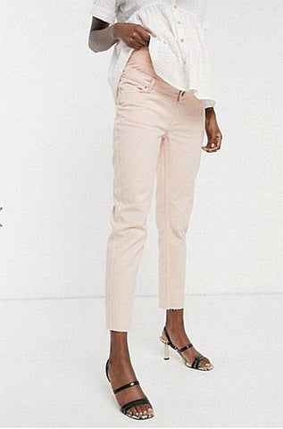 Asos Maternity Mom Jean in Washed Pink