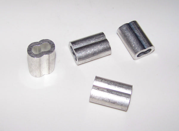 Aluminum Crimp Sleeve 100 pack- 1/16 inch