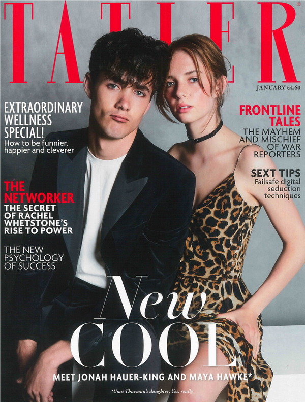 Herringbone Silk Scarf has been featured in Tatler Magazine
