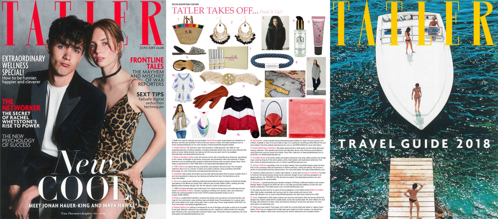 Nonamu silk scarves featured in Tatler Magazine