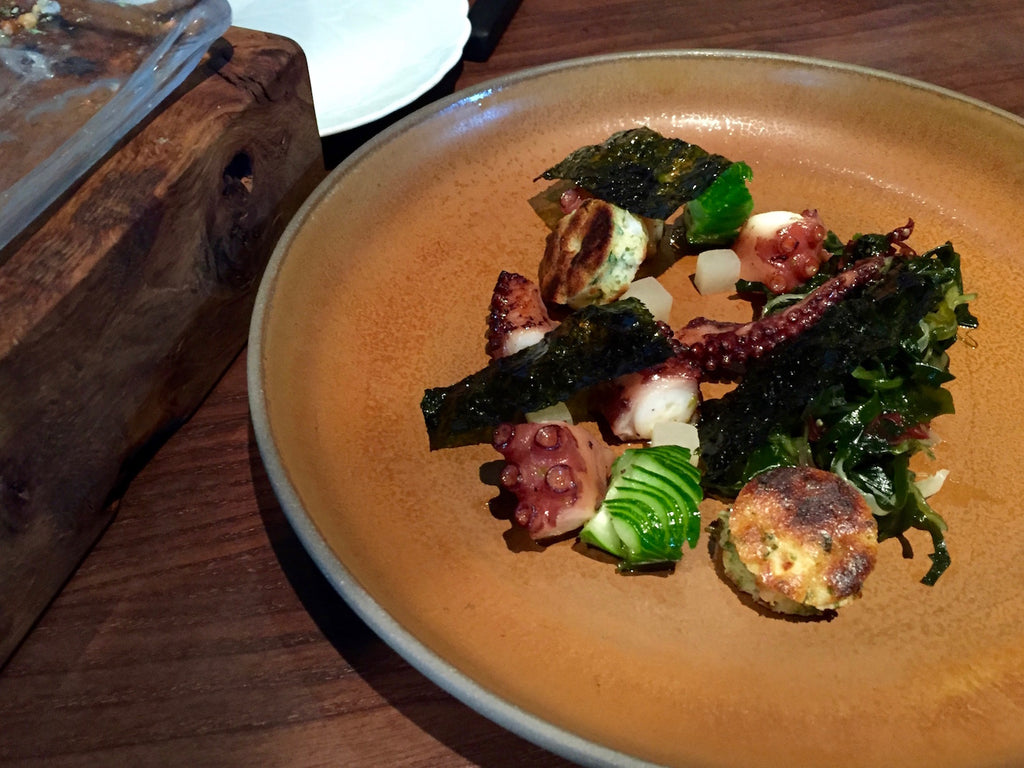 Smoked Octopus with seaweed salad