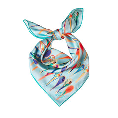 Nonamu Dancing Spoons silk scarf | As seen in Evening Standard