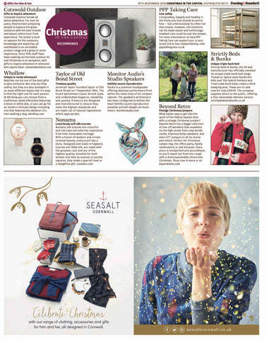 Nonamu silk scarf in Evening Standard's Christmas Gift Guide