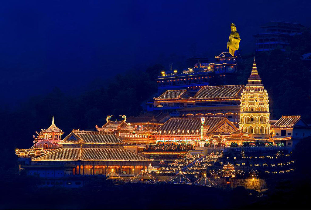 Penang Kek Lok Si Temple night lights
