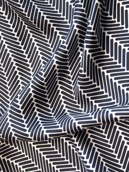 Herringbone Silk Scarf, Black