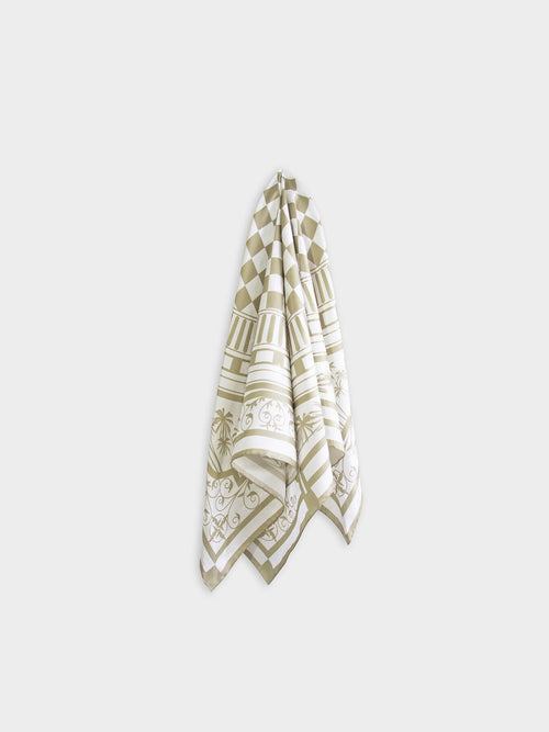 Eastern & Oriental Silk Scarf, Gold White