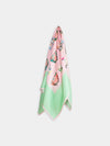 Porcelain Teatime Teacup Silk Scarf, Mint Green & Pink