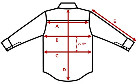 CARPASUS Shirt - how to measure