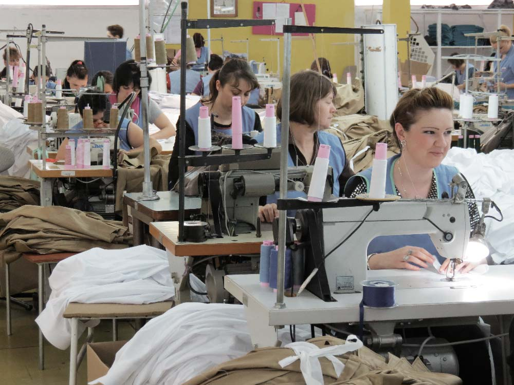 CARPASUS shirt manufacturing at Bontex in Maglaj, Bosnia and Herzegovina