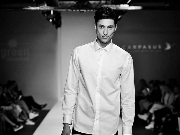 Model on the catwalk in our CARPASUS-shirt