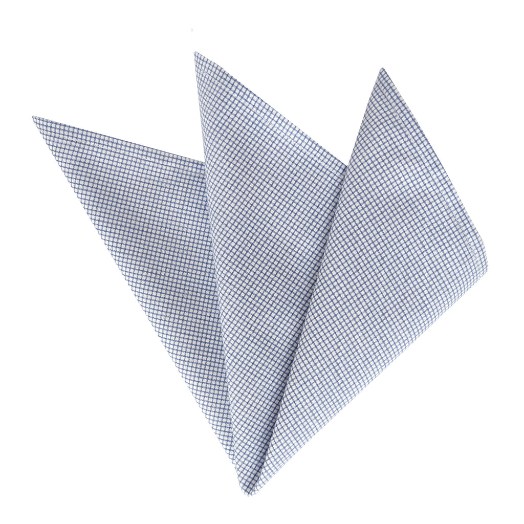 CARPASUS Pocket Square 'Classic' Blue Check