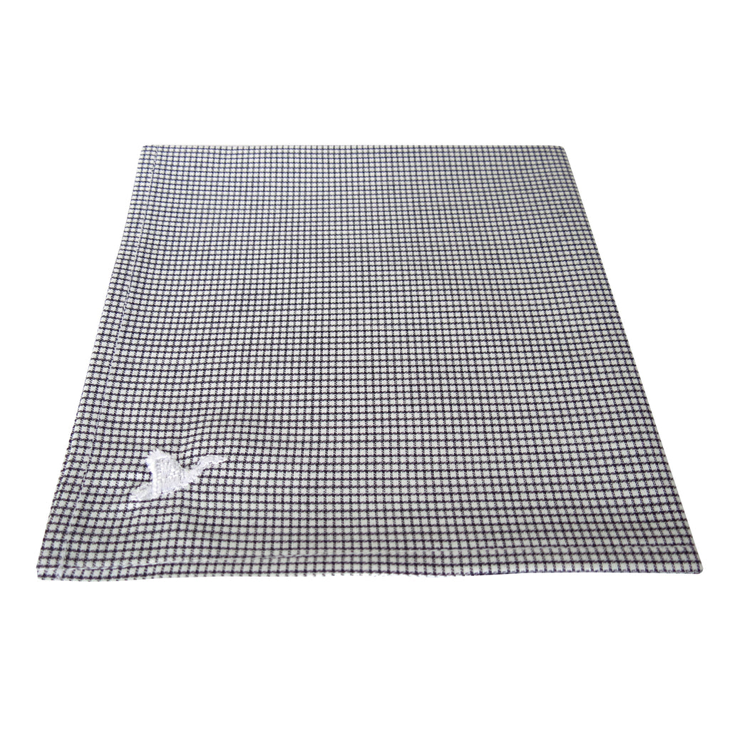 CARPASUS Pocket Square 'Classic' Black Check
