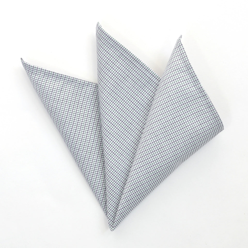 NEW: CARPASUS Pocket Square 'Classic' Black/Green Check