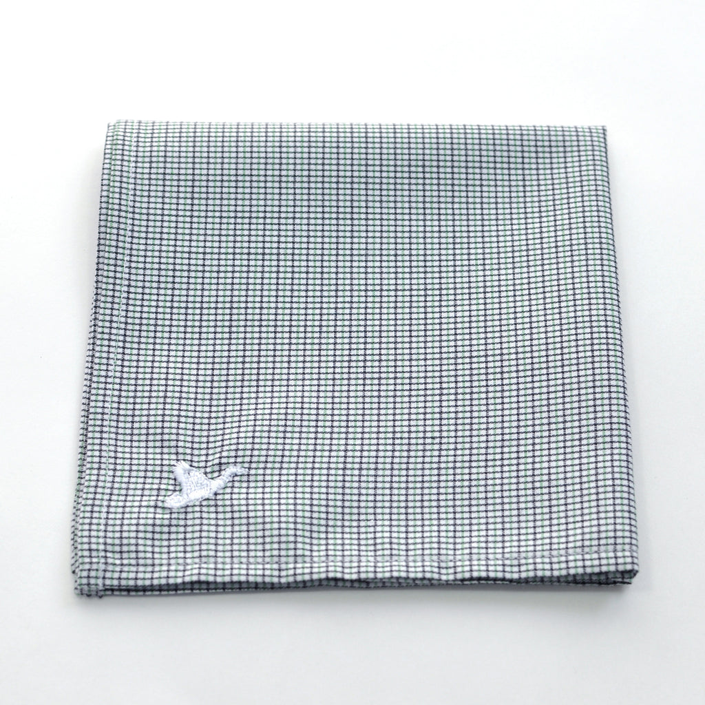 CARPASUS Pocket Square 'Classic' Black/Green Check