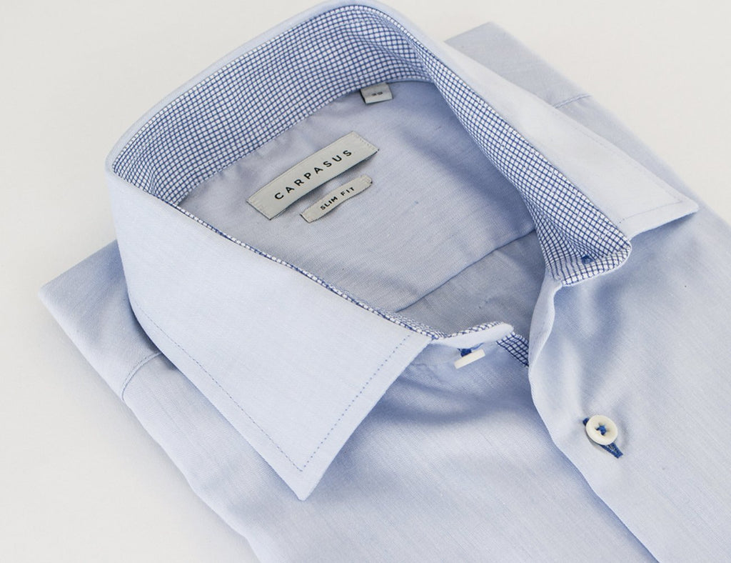 Dress Shirt Blue Contrast Blue Check