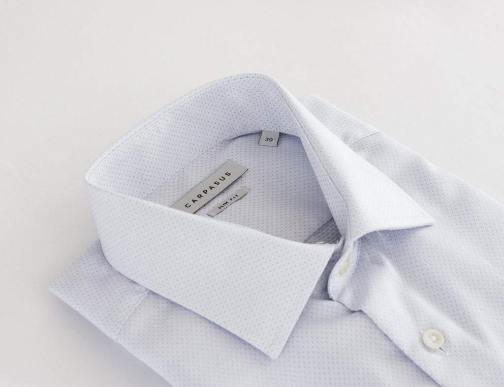 Dress Shirt Dobby White