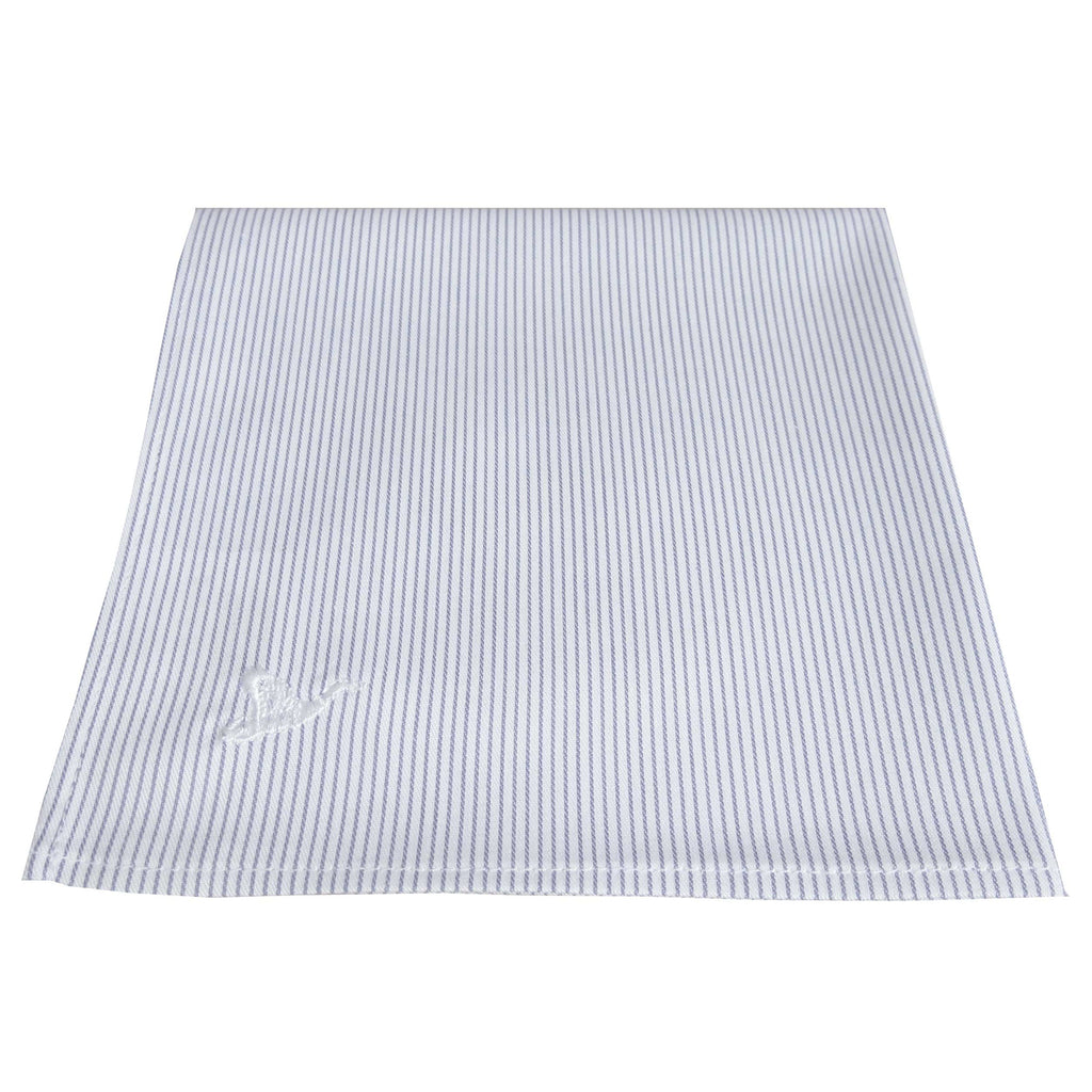 CARPASUS Pocket Square 'Classic' Blue Stripes