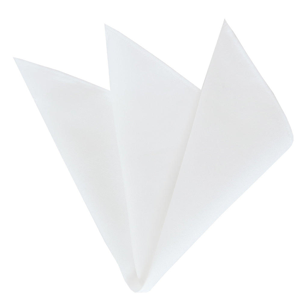 CARPASUS Pocket Square 'Classic' White