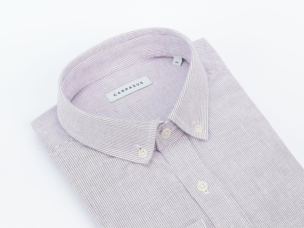 carpasus sustainable organic cotton shirt bernina purple. Nachhaltiges Carpasus Hemd Bernina Purple aus Bio Baumwolle