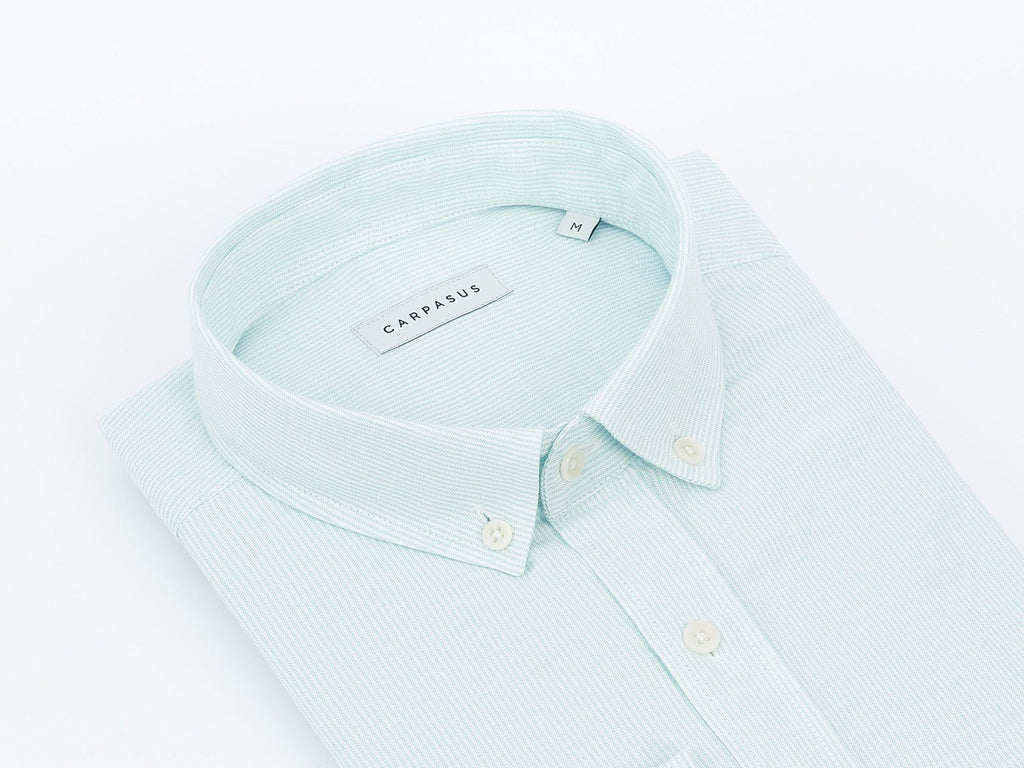 carpasus sustainable organic cotton shirt bernina turquoise. Nachhaltiges Carpasus Hemd Bernina Türkis aus Bio Baumwolle