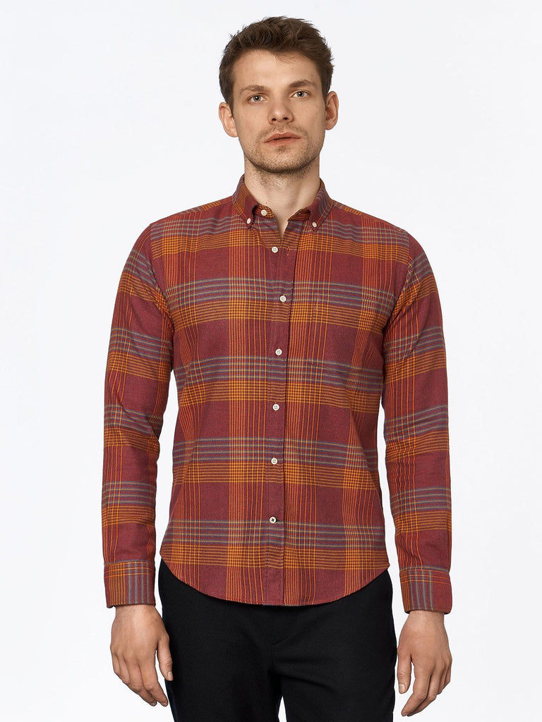 carpasus sustainable organic cotton flanell shirt ursido bordeaux. Nachhaltiges Carpasus Flanell Hemd Ursido aus Bio Baumwolle in Bordeaux