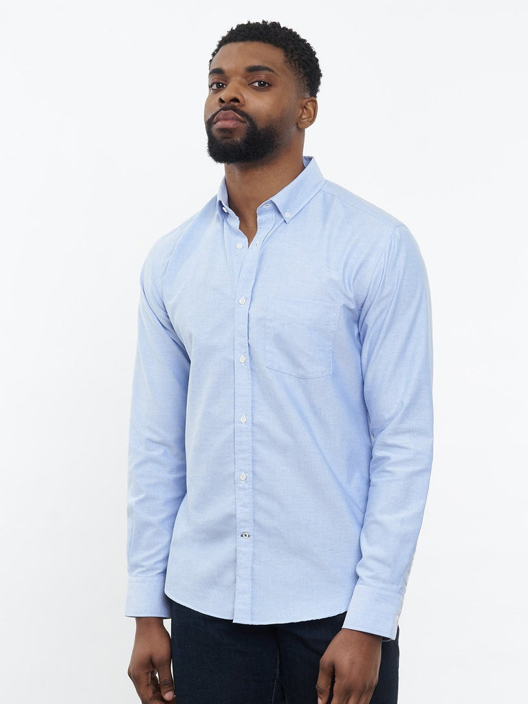 carpasus sustainable organic cotton oxford shirt blue. Nachhaltiges Carpasus Oxford Hemd aus Bio Baumwolle in Blau