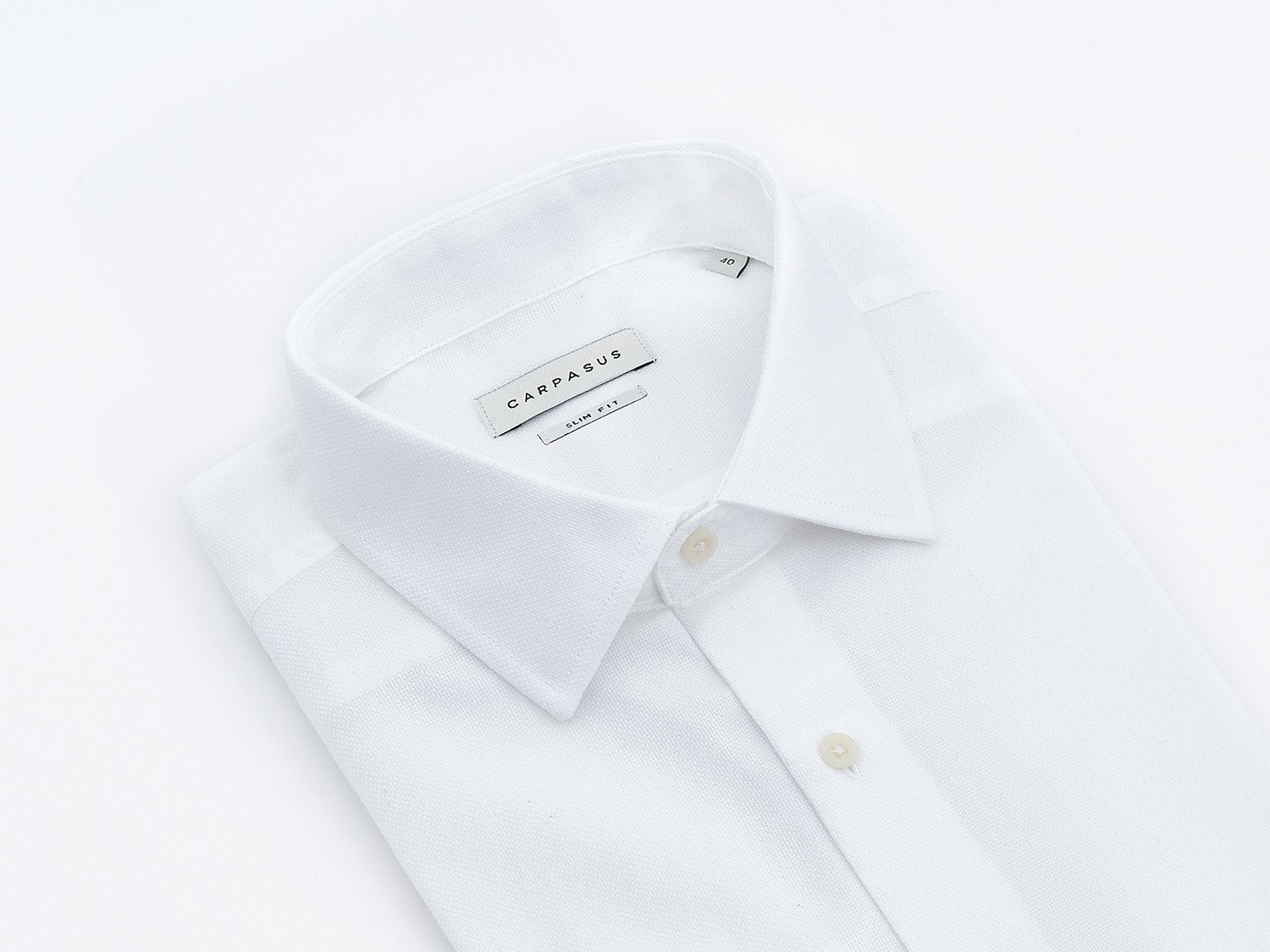 carpasus sustainable organic cotton dress shirt Porto white. Nachhaltiges Carpasus Businesshemd Porto aus Bio Baumwolle in Weiss