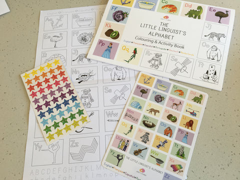 Multilingual Alphabet Colouring & Activity Kit