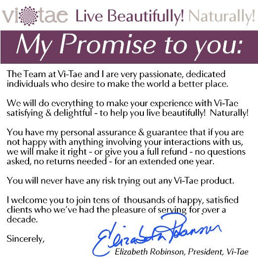 Vi-Tae Promise To Customers
