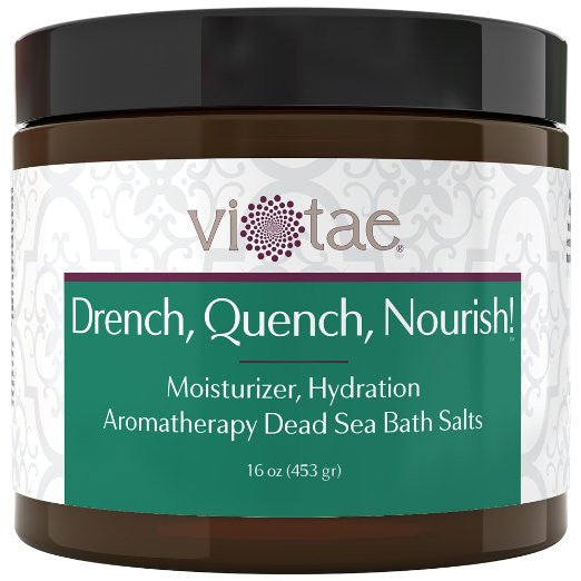 Drench, Quench Nourish! - Moisturizing Hydrating Aromatherapy Dead Sea Bath Salt