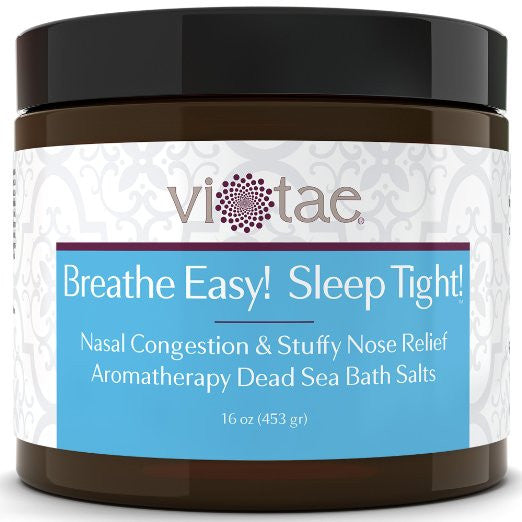 Breathe Easy Sleep Tight - Nasal Congestion & Stuffy Nose Relief Aromatherapy Dead Sea Bath Salt