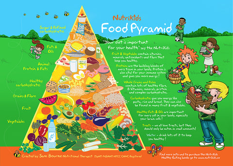 NutrKids Food Pyramid Large A1 Poster