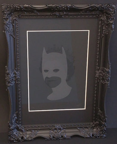 **SOLD** Rich Enough To Be Batman - Black Edition.  Limited Edition by artist Heath Kane