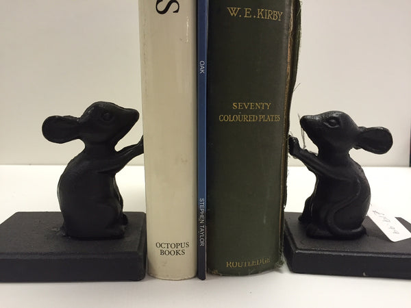 Pair of Cast Iron Mice Book Ends