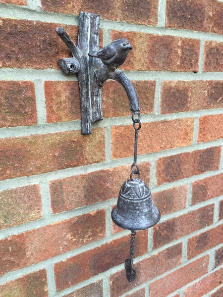 Cast Iron Horsehead and Bird Bell