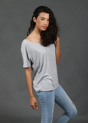 The Slouchy Tee - Grey