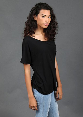 The Slouchy Tee - Black