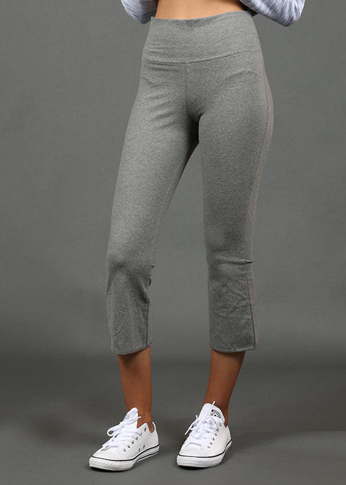Cotton Capri Pant - Grey