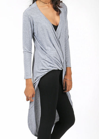 The Contemporary Criss-Cross Top - Grey