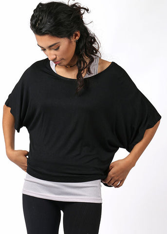 The Layered Lounging Tee - Black