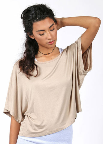 The Layered Lounging Tee - Sand
