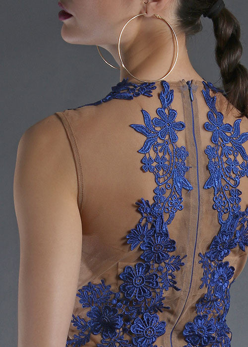 Bloom Embroidered Bodysuit - Blue