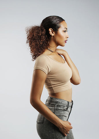 Make The Cut Crop Top - Nude