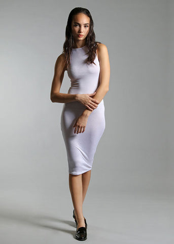 "The ""Hug Me Tight"" Sleeveless Bodycon Dress - White"