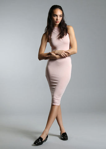 "The ""Hug Me Tight"" Sleeveless Bodycon Dress - Coral"