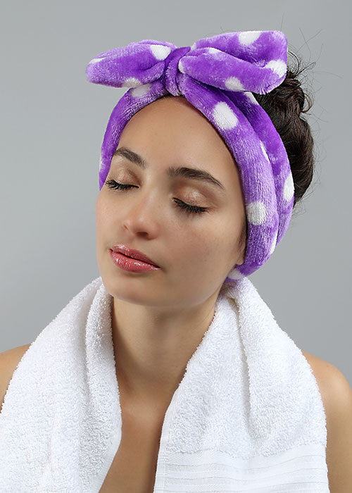 Face Wash Headband - Purple