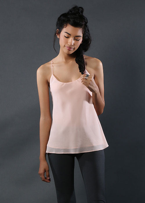 The Flowy Silk Cami - Pink