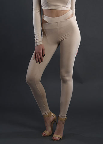 The Cut-Out Legging - Nude