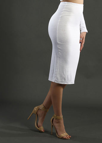 The Necessity Pencil Skirt - White