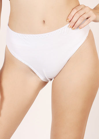 Amelia High Rise Undie - White